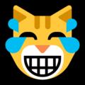 Эмодзи 😹 Кошачье лицо со слезами радости на Windows 10 Fall Creators Update