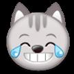 Эмодзи 😹 Кошачье лицо со слезами радости на Samsung