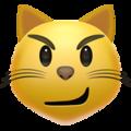 Эмодзи 😼 Кошачье лицо с ухмылкой на Apple iOS