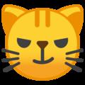 Эмодзи 😼 Кошачье лицо с ухмылкой на Google Android