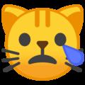 Эмодзи 😿 Плачущее кошачье лицо на Google Android