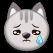 Эмодзи 😿 Плачущее кошачье лицо на Samsung