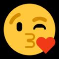 Эмодзи 😘 Надувающий сердце на Windows 10 Fall Creators Update