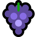 Эмодзи 🍇 Виноград на Windows 10 Fall Creators Update