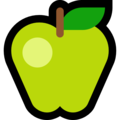 Эмодзи 🍏 Зеленое яблоко на Windows 10 Fall Creators Update