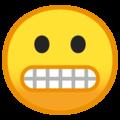 Эмодзи 😬 Лицо гримаса на Google Android