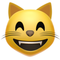 Эмодзи 😸 Улыбающееся лицо кота с добрыми глазами на Apple iOS