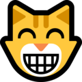 Эмодзи 😸 Улыбающееся лицо кота с добрыми глазами на Windows 10 Fall Creators Update