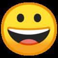 Эмодзи 😀 Ухмыляющееся лицо на Google Android