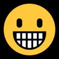 Эмодзи 😀 Ухмыляющееся лицо на Windows 10 Fall Creators Update