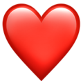 Эмодзи ❤️  Красное сердце на Apple iOS