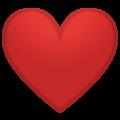 Эмодзи ❤️  Красное сердце на Google Android
