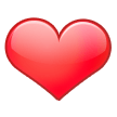 Эмодзи ❤️  Красное сердце на Samsung