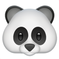 Эмодзи 🐼 Панда на Apple iOS