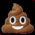 Эмодзи 💩 Какашка на Apple iOS