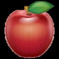 Эмодзи 🍎 Красное яблоко в месседжере WhatsApp