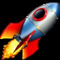 Эмодзи 🚀 Ракета на Apple iOS
