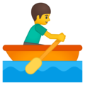 Эмодзи 🚣 Персональная гребная лодка на Google Android