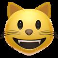 Эмодзи 😺 Улыбка кота на Apple iOS