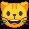 Эмодзи 😺 Улыбка кота на Google Android