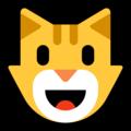 Эмодзи 😺 Улыбка кота на Windows 10 Fall Creators Update