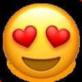 Эмодзи 😍 Улыбающееся лицо с влюбленными глазами на Apple iOS