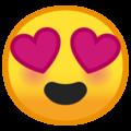 Эмодзи 😍 Улыбающееся лицо с влюбленными глазами на Google Android
