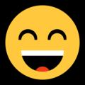 Эмодзи 😄 Улыбающееся лицо с открытым ртом и улыбающимися глазами на Windows 10 Fall Creators Update