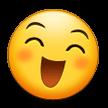 Эмодзи 😄 Улыбающееся лицо с открытым ртом и улыбающимися глазами на Samsung