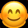 Эмодзи 😊 Улыбающееся лицо с улыбающимися глазами на Apple iOS