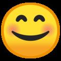 Эмодзи 😊 Улыбающееся лицо с улыбающимися глазами на Google Android