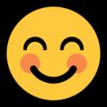 Эмодзи 😊 Улыбающееся лицо с улыбающимися глазами на Windows 10 Fall Creators Update