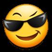 Эмодзи 😎 Лицо в солнцезащитных очках на Samsung
