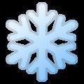 Эмодзи ❄️ Снежинка на Google Android