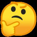 Эмодзи 🤔 Задумчивый на Google Android
