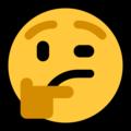 Эмодзи 🤔 Задумчивый на Windows 10 Fall Creators Update