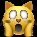 Эмодзи 🙀 Испуганное кошачье лицо на Apple iOS