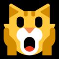 Эмодзи 🙀 Испуганное кошачье лицо на Windows 10 Fall Creators Update