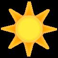 Эмодзи ☀️ Солнышко или Солнце на Google Android
