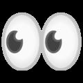 Эмодзи 👀 Глаза на Google Android