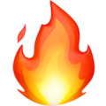 Эмодзи 🔥 Огонь (пламя) на Apple iOS