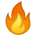 Эмодзи 🔥 Огонь (пламя) на Google Android