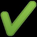 Эмодзи ✔️ Галочка (отметка) на Google Android