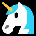 Эмодзи 🦄 Единорог на Windows 10 Fall Creators Update