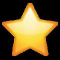 Эмодзи ⭐ Звездочка или Звезда в месседжере WhatsApp