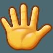 Эмодзи 🖐️ Рука с растопыренными пальцами на Samsung