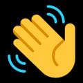Эмодзи 👋 Махать рукой на Windows 10 Fall Creators Update