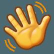 Эмодзи 👋 Махать рукой на Samsung