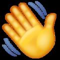 Эмодзи 👋 Махать рукой в месседжере WhatsApp