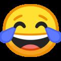 Эмодзи 😂 Лицо со слезами радости на Google Android